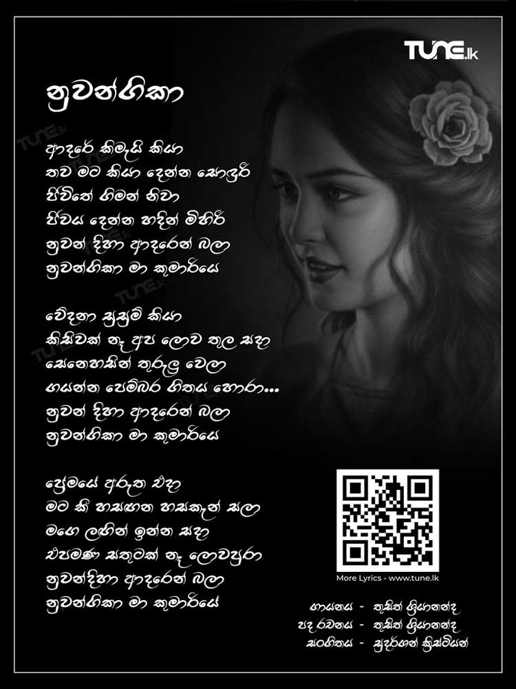 Adare Kimai Kiya (Nuwangika) Lyrics
